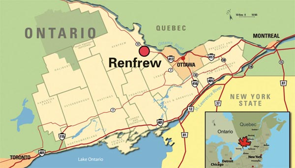 Map of Renfrew County